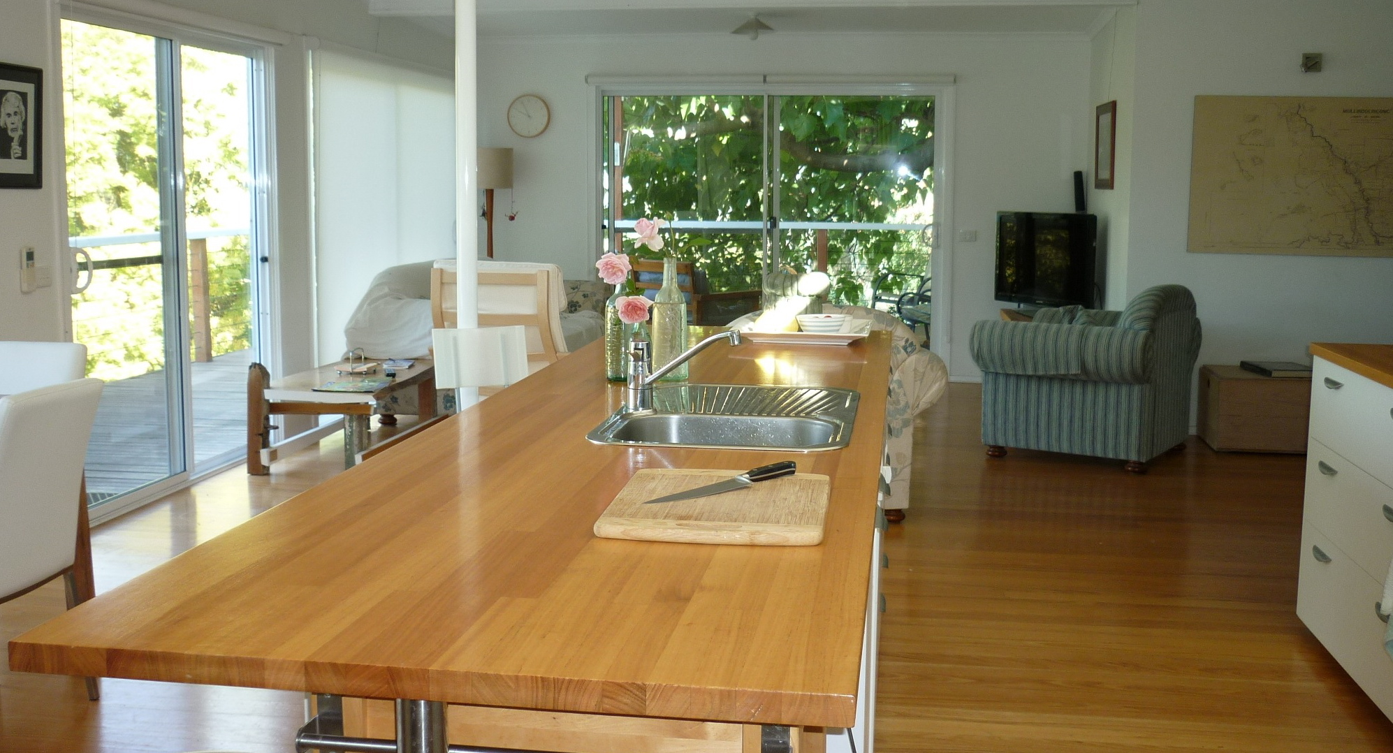 the kitchen bench