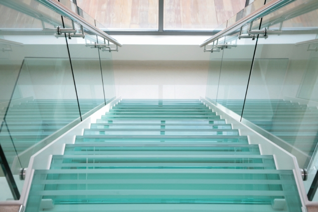 In my dream, our new house had a glass stair well and stairs, so we could see the canal from the stairs.  That particular idea will not be making it to the real thing.  (Photo from: http://hbdstairs.wordpress.com)