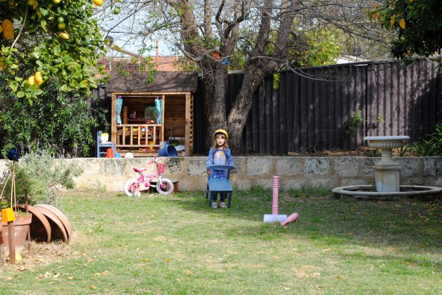 Reaping the rewards of a kid friendly back yard.  That's what I love about Australia!