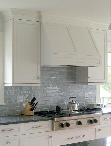 Shiny glass tiles make me swoon Picture from Molly Frey Design