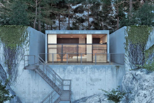 No need for air conditioning  in this cave-like house with window openings set high.