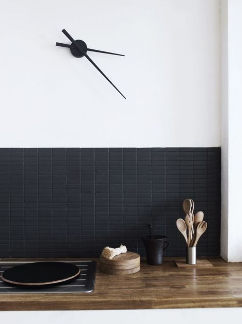 Small black (or grey or blue) tile.