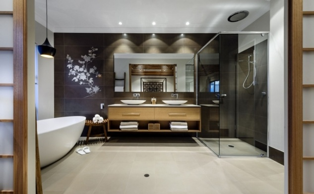 This rather lovely bathroom is from the Azumi, by Webb and Brown-Neaves.  Our vanity will be this style.