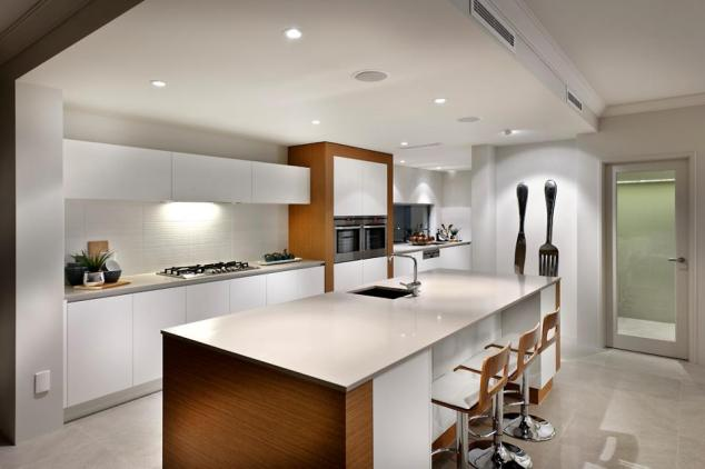 "The ""Rubix"" kitchen, as seen in the display home.  Photo from Webb and Brown-Neaves."