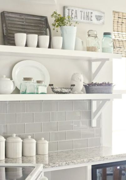 It need not be a subway tile, but the colour and shine are gorgeous.