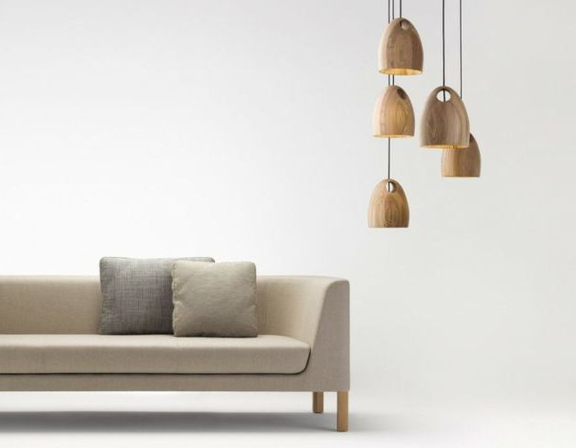 Beautiful oak pendants by Australian designer Ross Gardam. $1379 each. I'd want at least 2. So, maybe not...