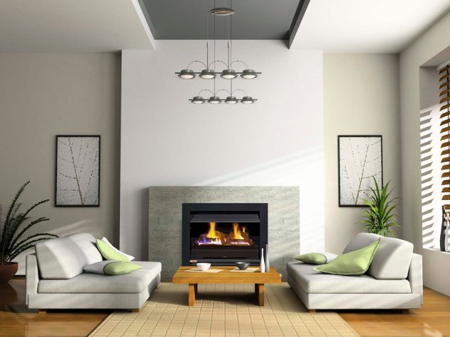 HeatnGlo fireplace.