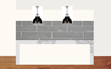 An attempt at showing the correct scale for kitchen bench, pendant lights (36 cm diameter) and ceiling height.