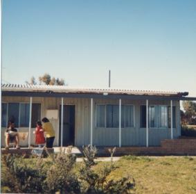 Holidaying on the Mandurah beach front, 1988.