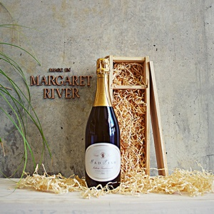 Made in Margaret River.  Red or white sparkling wine.