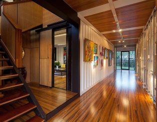 Zeigler build. Hallway details.