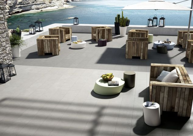 """Block"" porcelain tiles by Marazzi."
