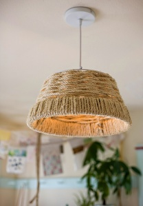Woven rope pendant - DIY by Design Sponge.