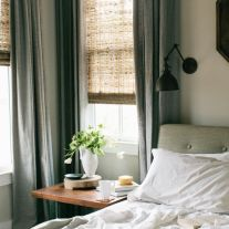 Blinds and curtains.