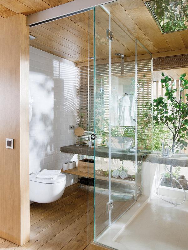 Transparent bathroom.