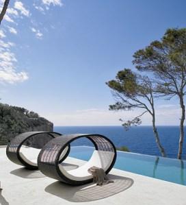 Pool and ocean.