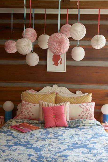 Girls room - paper lanterns.