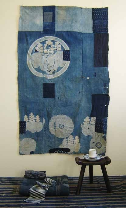 Old jeans?  Or amazing textiles collected from faraway places?  Source: