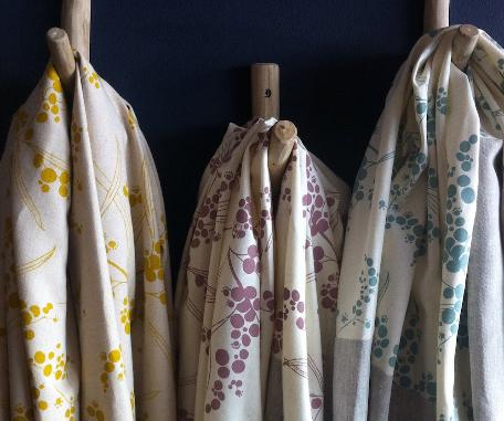 """""""Wattle"""" fabric by Moochie Lou."""