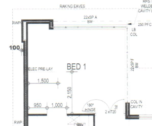 Master bedroom plan.