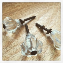 Glass knobs from Le Lis Blanc.