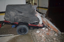 Squashed trailer and 4-wheeler