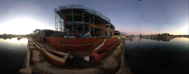 Canal side at House By The Water.  Click on image for 360 degree tour.