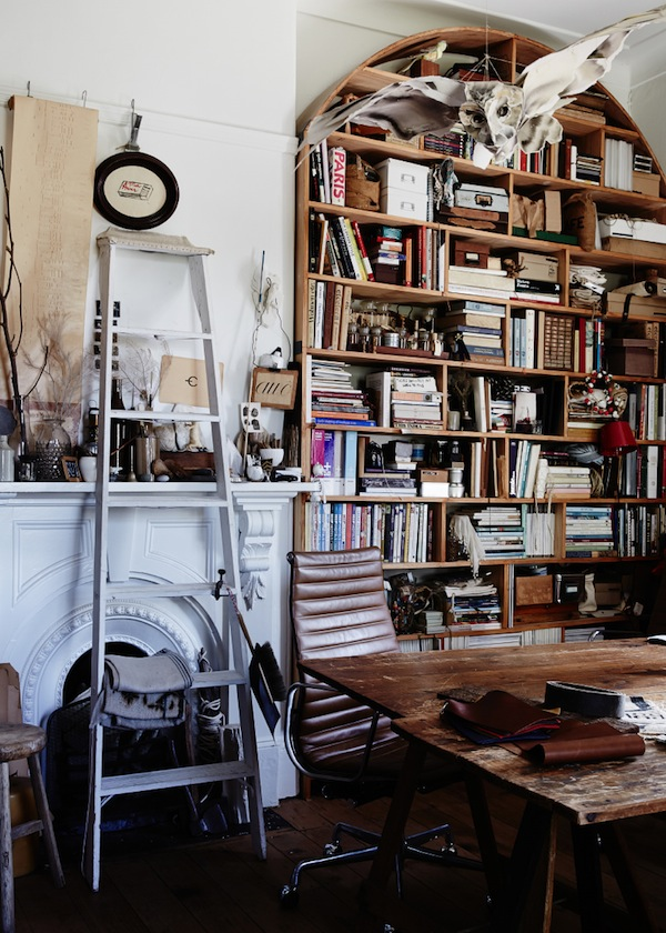 Queen of collected treasures, Sibella Court's home.  Source:  The Design Files.