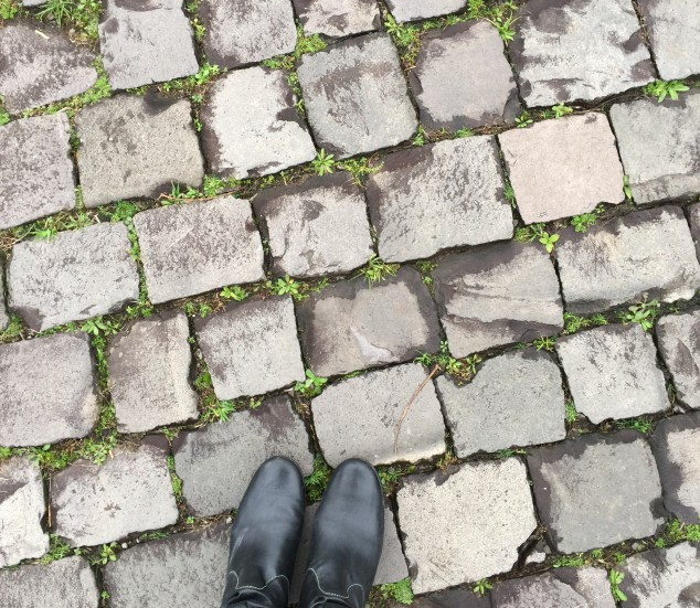Cobblestones are everywhere here in Brazil. Might have to pack a suitcase full.