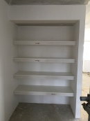 Upstairs linen cupboard.