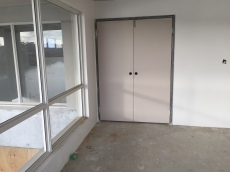 Double doors.