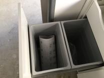 Double bin drawer.