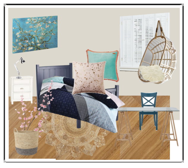 Tween room mood board.