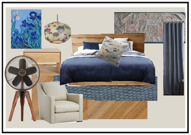 Master bedroom mood board.