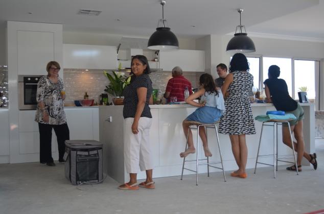 Kitchen crowd.
