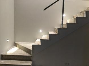 Stair lights.