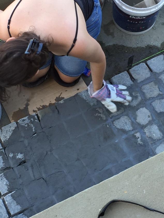 cobblestone grout