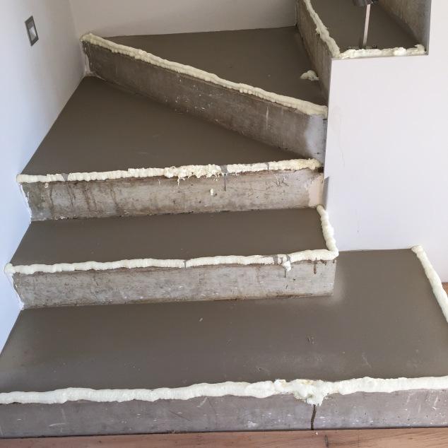Self levelling concrete.