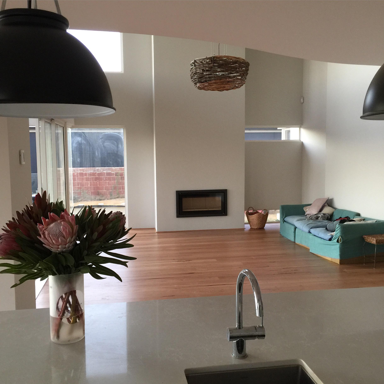 living room timber floor.