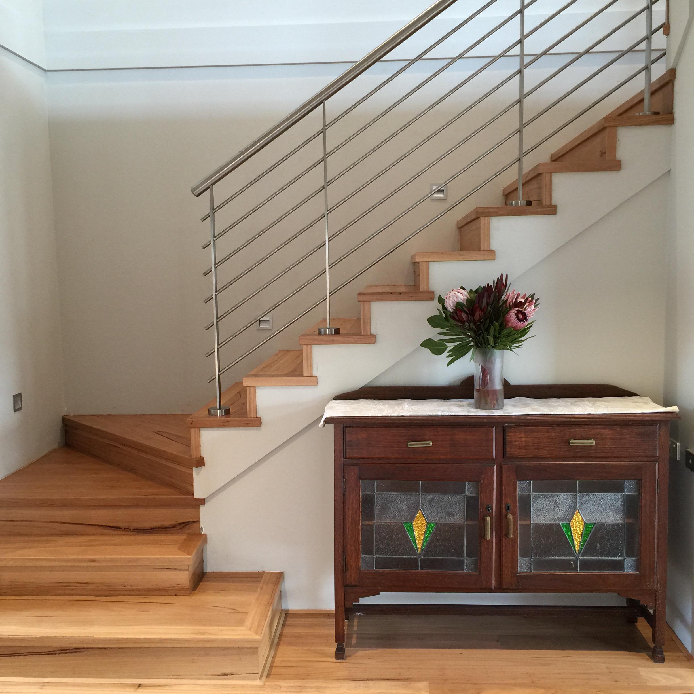 Blackbutt stairs.
